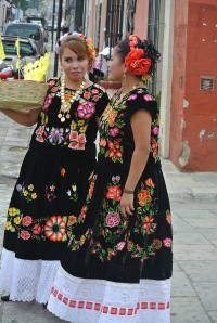 pretty girls in local dress