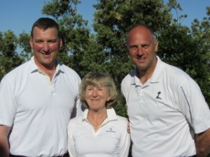 Lady Captain with Matt and Steve