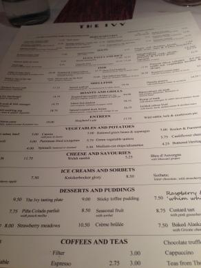 ivy menu