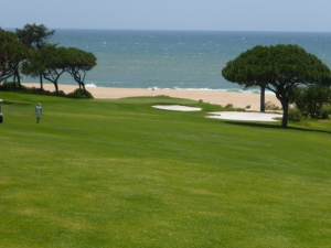 View of the beach from t a Golf course