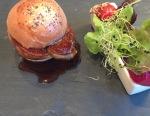 Hot Fois Gras with raspberry vinaigrette