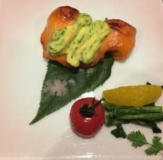 fish and chisou leaf