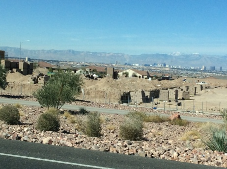retirement homes with Las vegas in the background